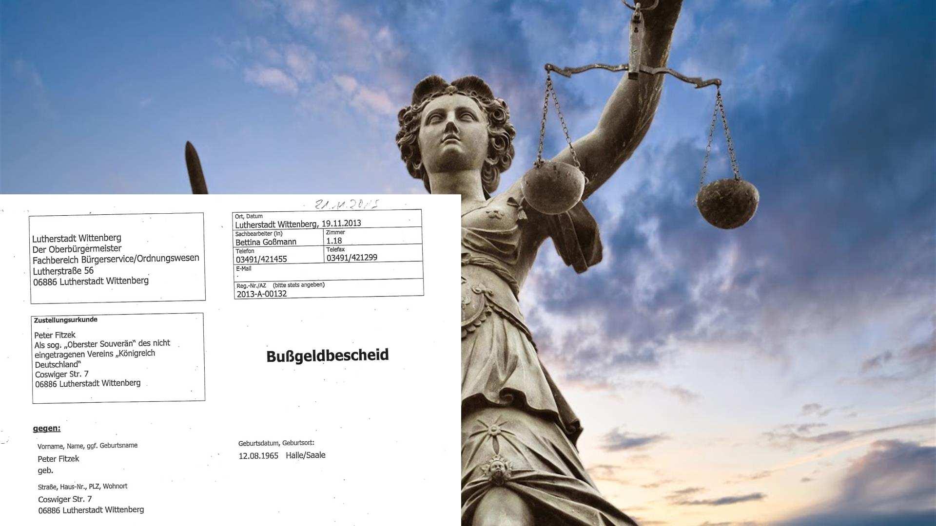 Schriftwechsel - Bußgeld wegen Zerstörung eines Reisepasses ...